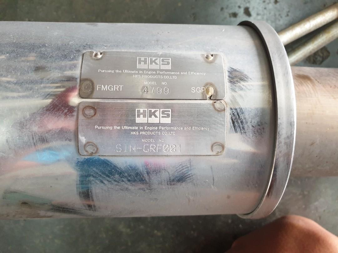 HKS exhaust for WRX GH8 hatch back