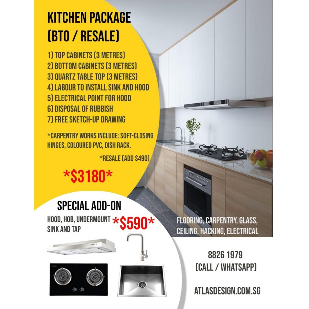 🔴Reno Instalment! (In-House Instalment Plan!) Get Your Kitchen / Bathroom / Bedroom Package Now!