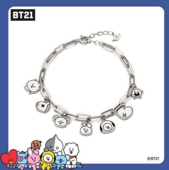 [KOREA PS/NO EMS] BT21 BTS OST - SILVER BRACELET (ALL CHARACTER)