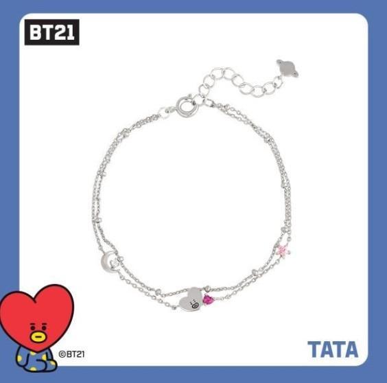 [KOREA PS/NO EMS] BT21 BTS OST - SILVER DOUBLE-LINE BRACELET