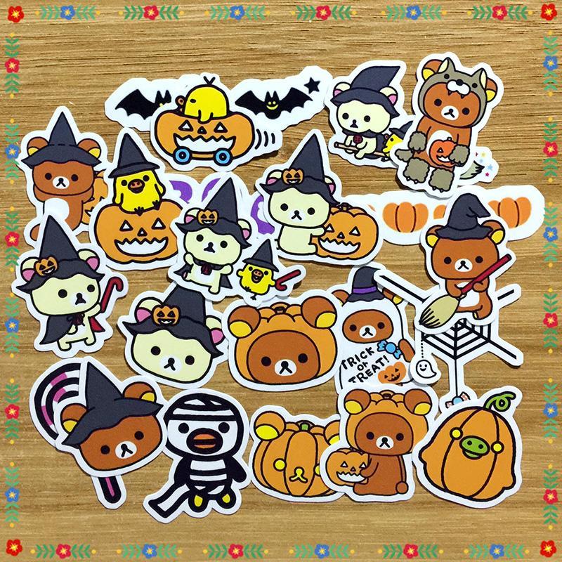 [Limited Edition] Rilakkuma Halloween Scrapbook / Planner Stickers #470