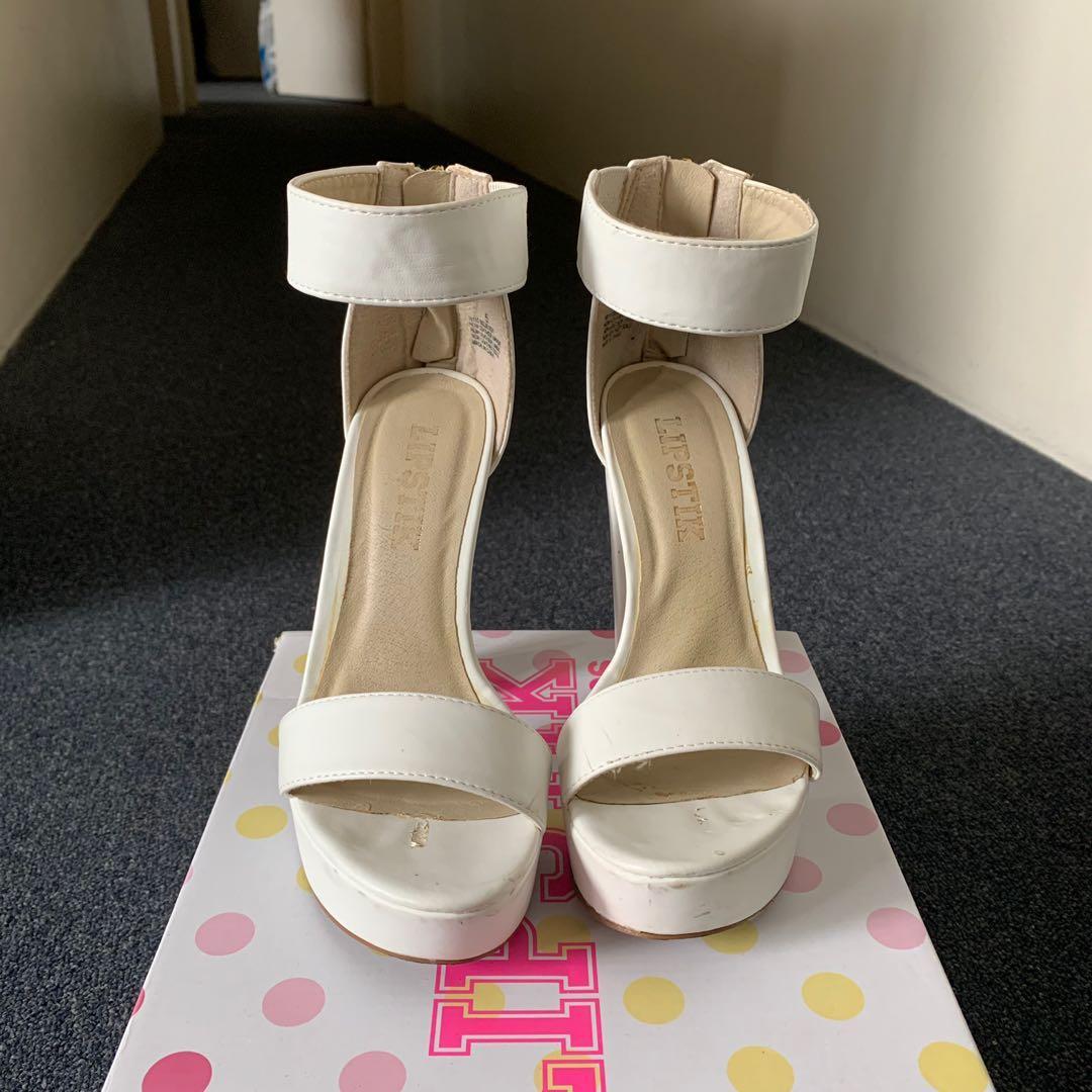 Lipstik Believer Heels - White