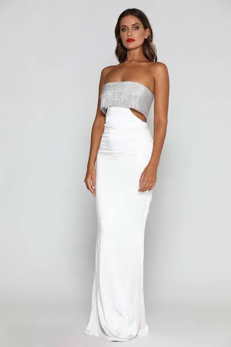 Meshki - Genesis Strapless Diamante Maxi (Formal Dress)