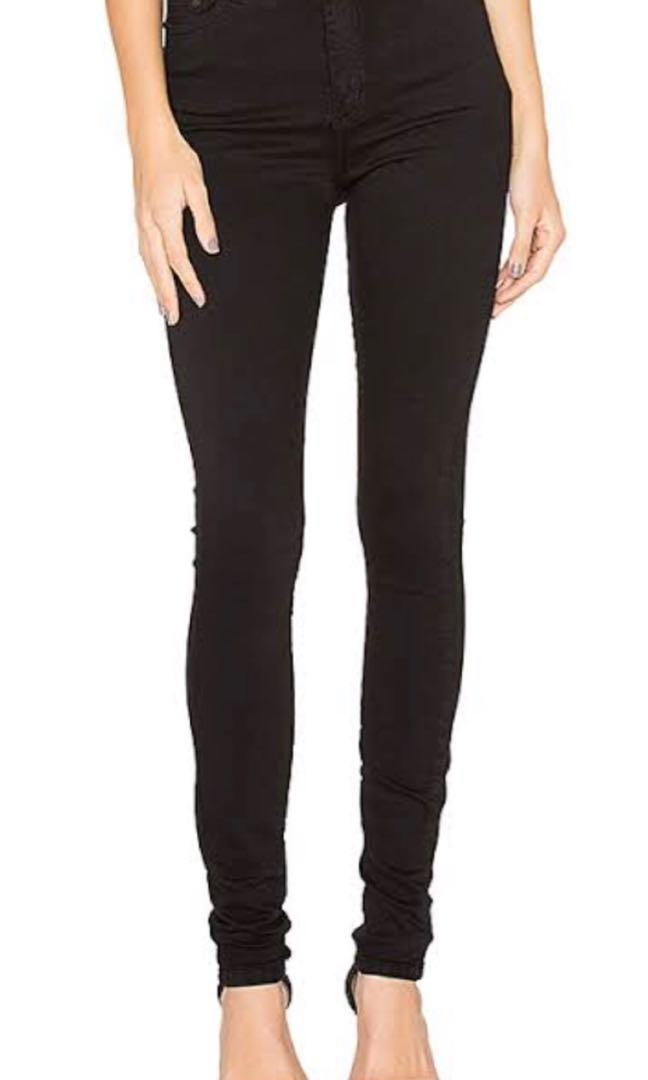 Nobody Denim Siren Skinny Ankle Jean Black Size 30