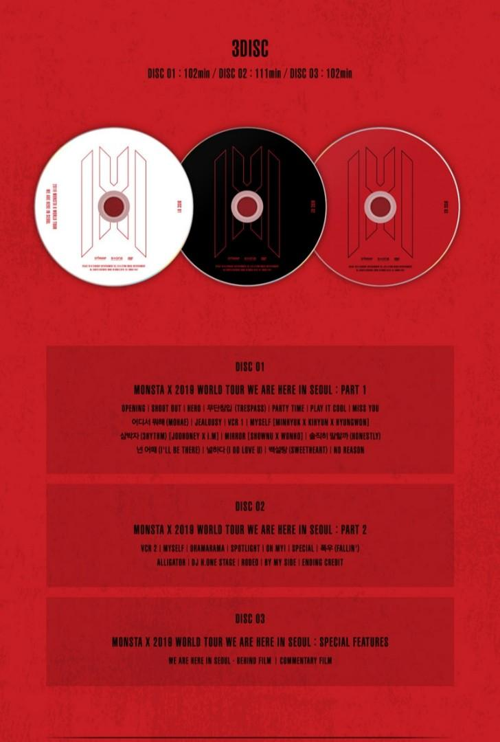[PREORDER] MONSTA X 2019 WORLD TOUR DVD <WE ARE  HERE> IN SEOUL