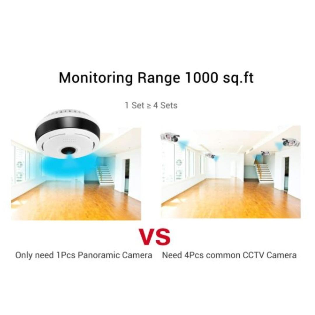 <Promotion> 960P Panoramic Camera Wifi Indoor IP Camera Fisheye Baby Monitor Kids Pets Security Camera iOS/Android App Large Area Monitoring