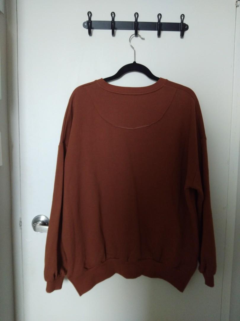 Pull & Bear Orange Oversized Sweater (Women's Size S, size runs big)