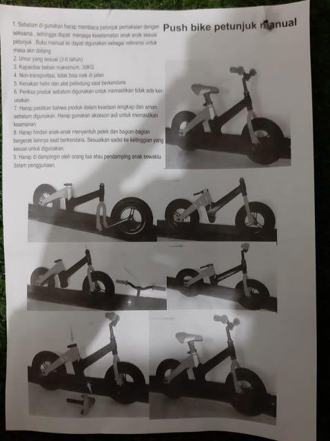 Push Bike / PushBike / Balance Bike Element Srider