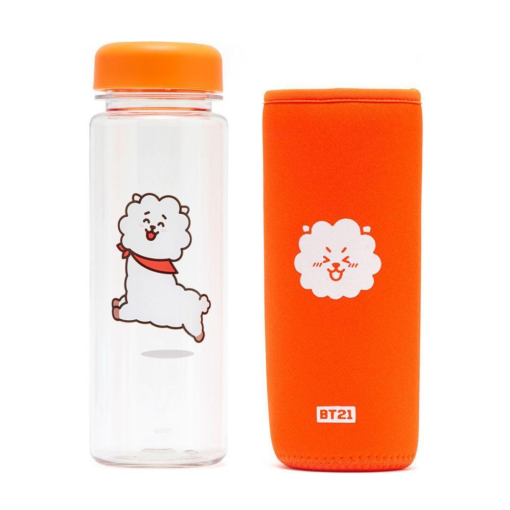 [Ready stock] Authentic BT21 RJ water bottle with cover