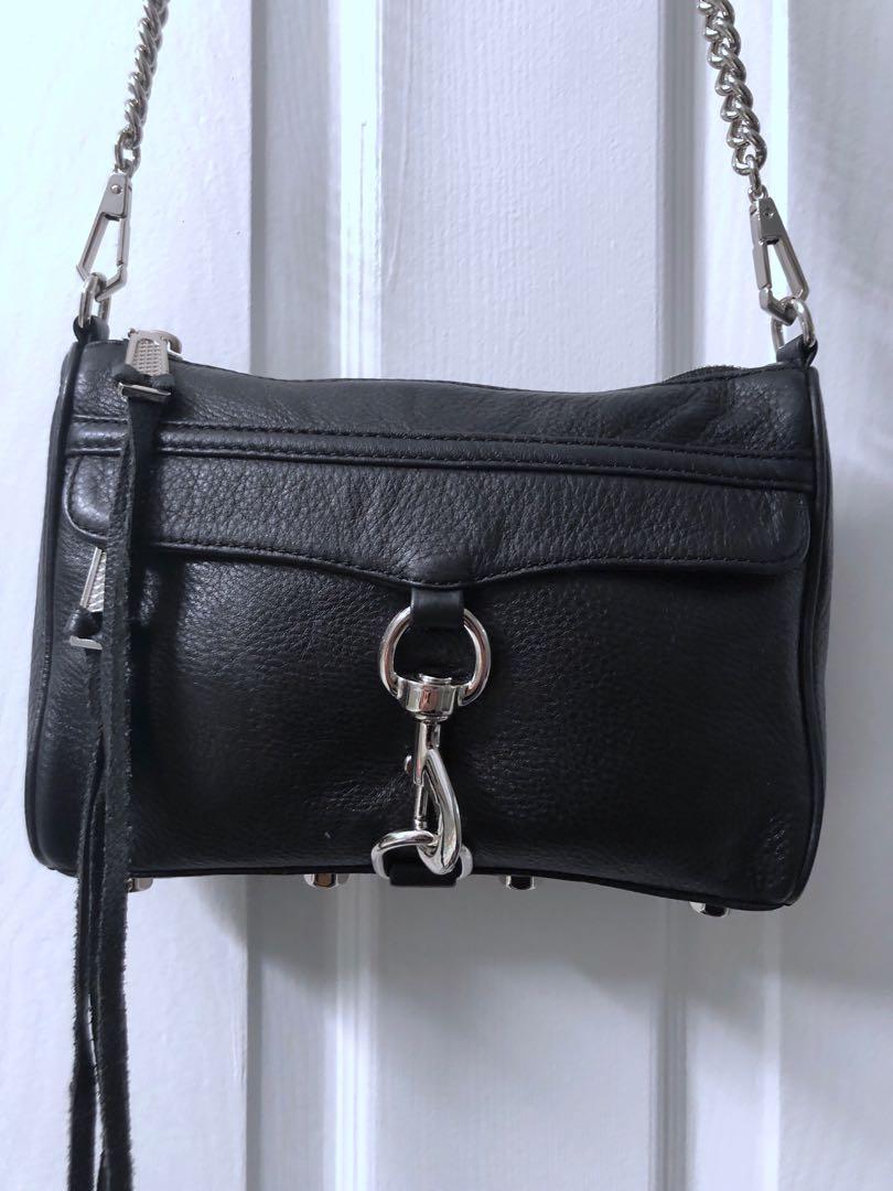 Rebecca Minkoff Mini MAC Bag, Black with Silver Hardware