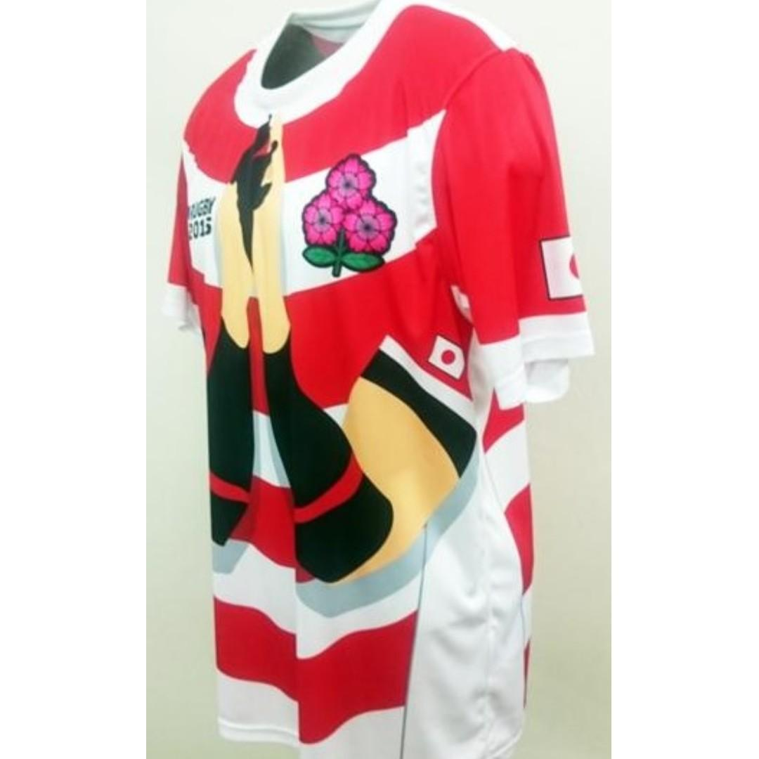 Rugby World Cup Japan National team uniform look T shirt (Size: S,M,L,XL)