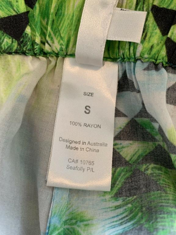 SEAFOLLY Multi Coloured Photo Print Casual Harem Pants Sz S AU 10