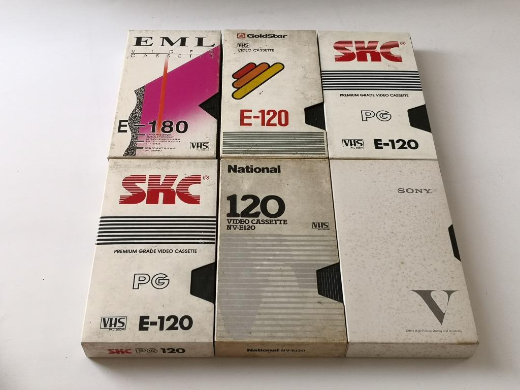 Selected VHS Tapes Props - Collector's Item