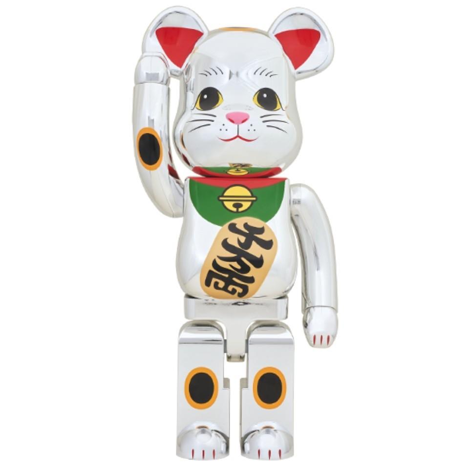 Medicom Toy Be@rbrick Peko Maneki 100/% /& 400/% Gold Beckoning Cat Bearbrick