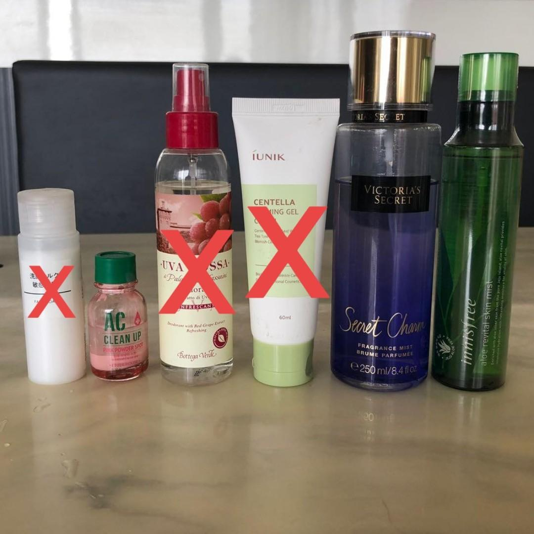 skincare items