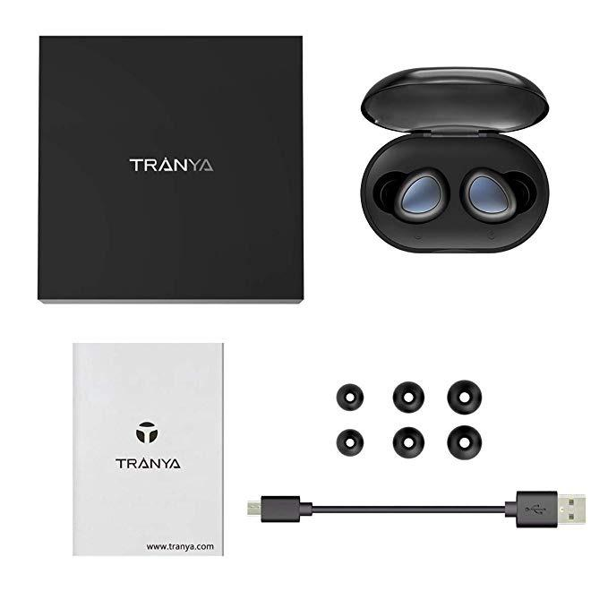 Tranya T3 Bluetooth 5.0 Deep Bass True Wireless Headphones Sports Earbuds