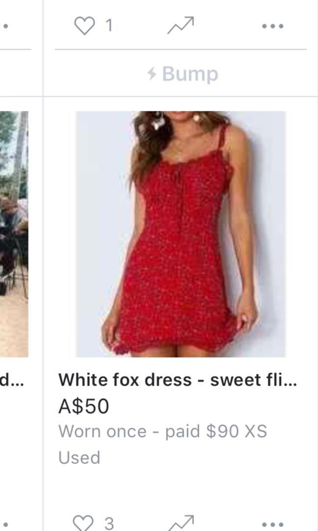 White fox dress - sweet fling XS