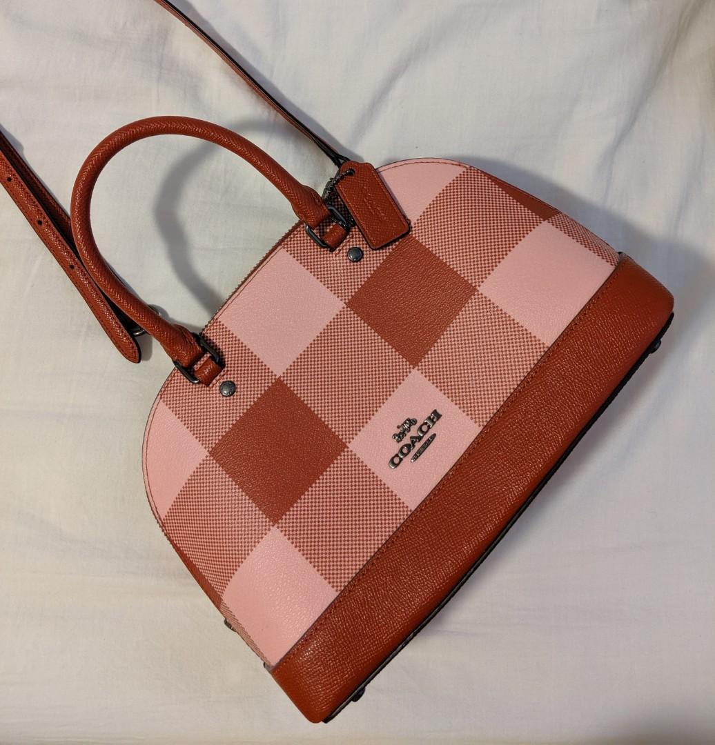 Womens Mini Sierra Satchel Handbag, Crossgrain Leather, Detachable Crossbody Strap (Mini)