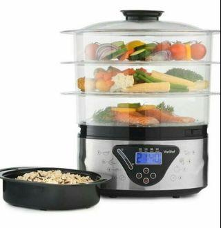 Food Steamer with 3 independent layer