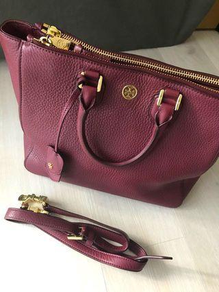 Tory Burch Tote Bag in Burgundy