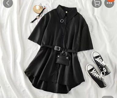 网红帅气黑色衣服
