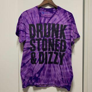8103 Clothing Drunk Stoned & Dizzy Purple Tie Dye Tee 聯名 紫色 渲染 短T T-Shirt