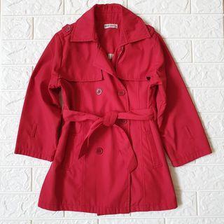 Preloved girls trench coat sz 10 (Utk 7-8thn)