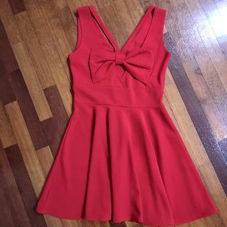 🆕 Bareback red dress