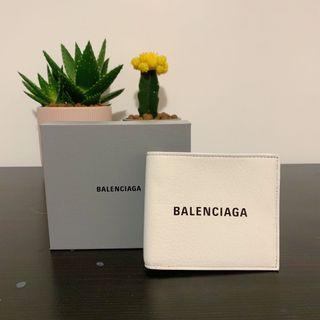 (現貨)Balenciaga 巴黎世家 白色短夾 經典logo款