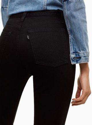 Levi's Wedgie Ultra Black - exclusive to Aritzia