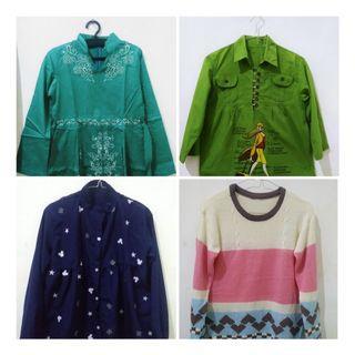 [BELI 1 DAPAT 4] Baju kemeja, sweater, dan blouse