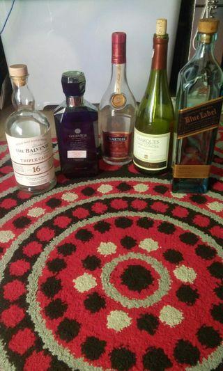 Botol Minuman bekas utk pajangan
