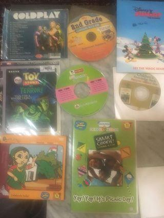CDs mix - Toy story, Disney, cold play