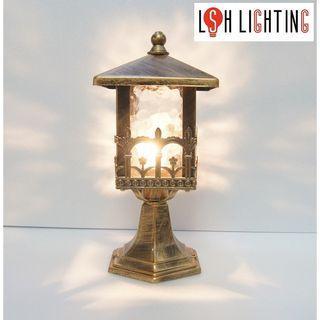 LSH Lighting Antique Outdoor Pillar Light 19296/1S