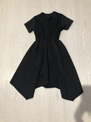 Black asymmetric dress