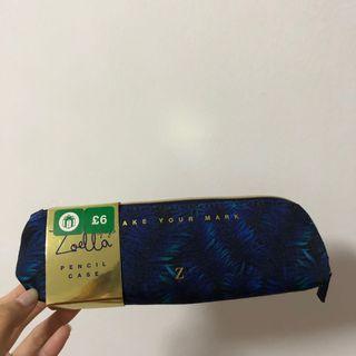 Zoella blue pencil case pouch