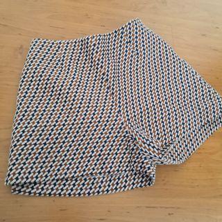 Zara Basic Brown Blue Shorts (M)