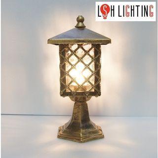 LSH Lighting Antique Outdoor Pillar Light 19294/1S