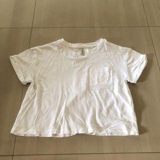 H&M basic white crop top