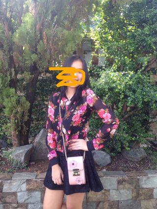 Zara floral outer wear