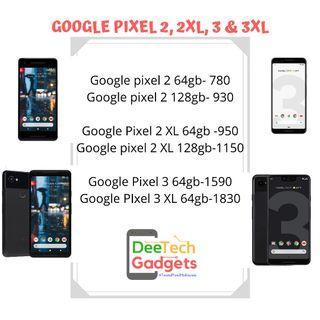 Google Pixel 2 2xl 3 & 3xl Used Set