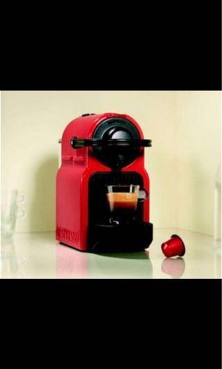 Nespresso coffee machine (Inissia) Red