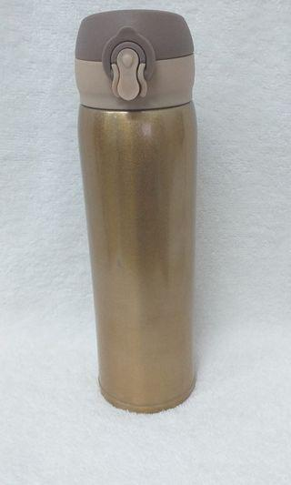 500ml Gold Vacuum Flask with lock