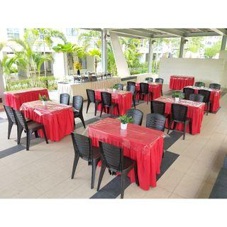 [Rent] Tables and Chairs Rent Rental Cheap Deliver Setup Event Function Wedding Birthday Party Flee Market Roadshow Kenduri Buffet BBQ Barbecue Barbeque Rental Open House Celebration 34