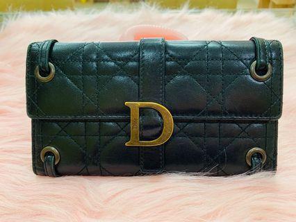 Dior 復古經典款編織長夾