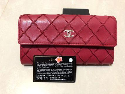 Chanel 菱格外縫線優雅長夾/手拿包