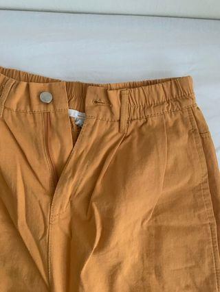 黃色 韓風 褲子芥末黃