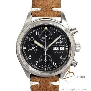 IWC 3706 Flieger Chronograph Day Date Tritium Black Dial