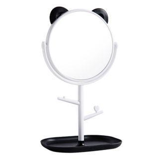現貨 超萌 兔子 大貓熊 可爱 化妝鏡 鏡台 梳妝鏡 家用鏡子 鏡子 手飾托盤 鏡子 公主镜 化妝鏡子.