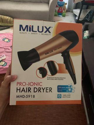 Milux 2200W Pro-Ionic Hair Dryer MHD-5918 - FREE SHIPPING FEE